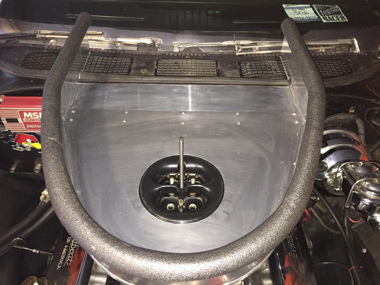 Cowl Induction Hood Air Pan : Quot cowl air pan chevelle tech