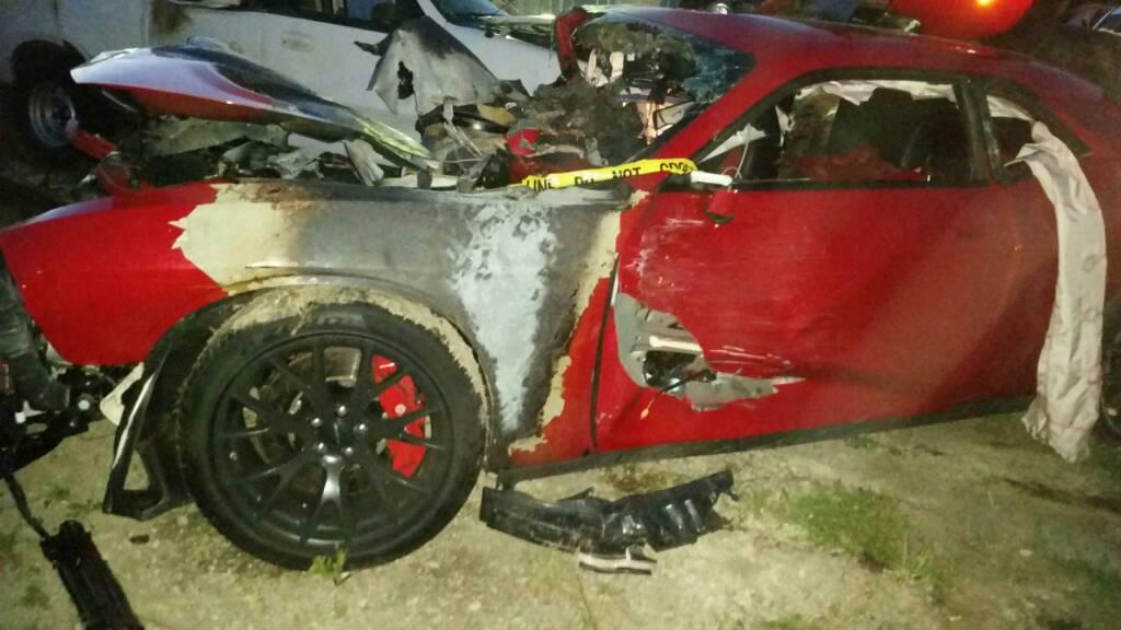 Another high speed Hellcat crash - Dodge Challenger Forum ... 2015 Dodge Challenger Srt8 Supercharged