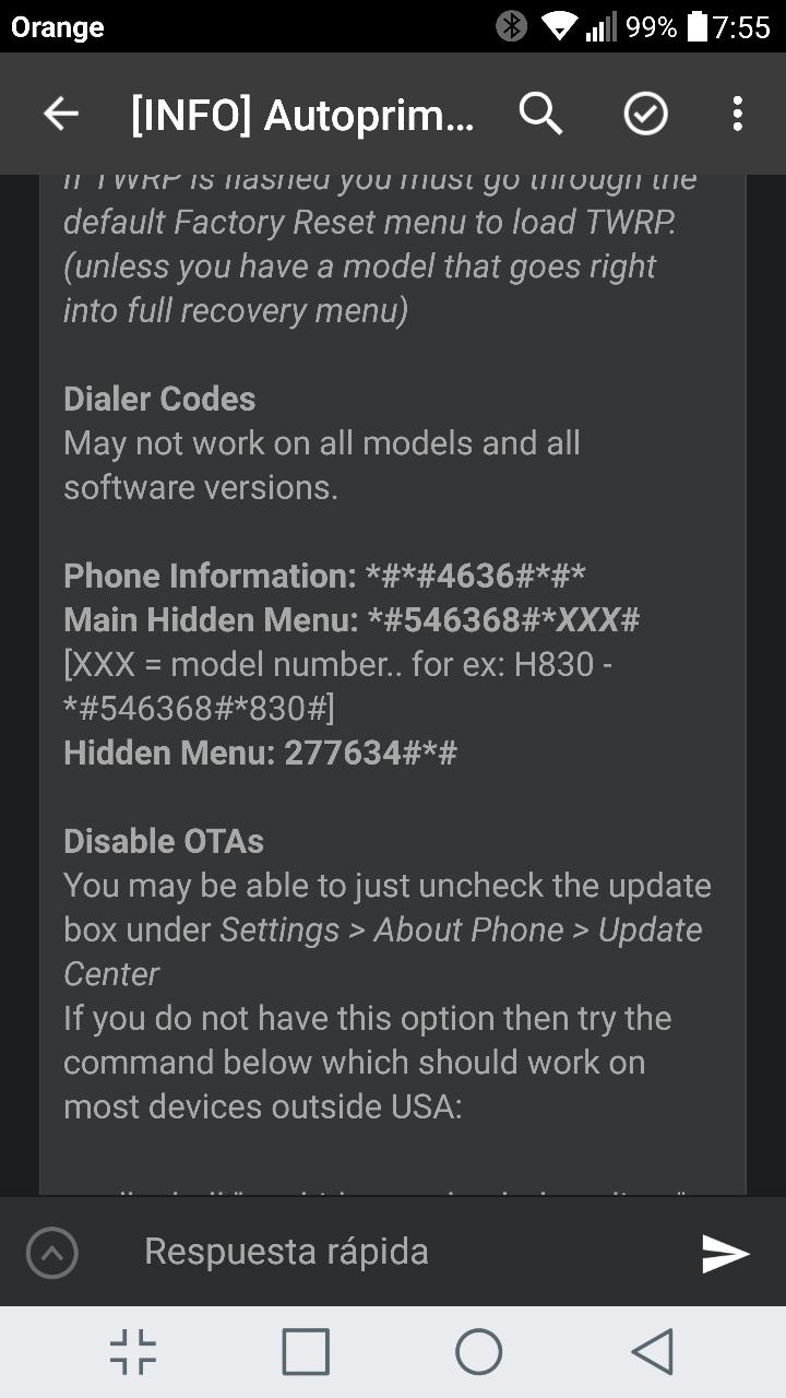Combinación menú oculto de LG G5, ¿se sabe ya? - HTCMania