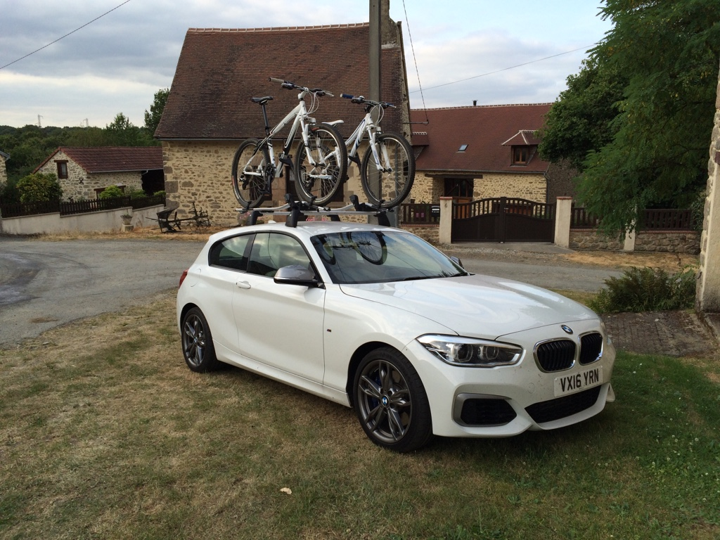 F21 M135i with BMW roof bars & bike racks - babybmw.net