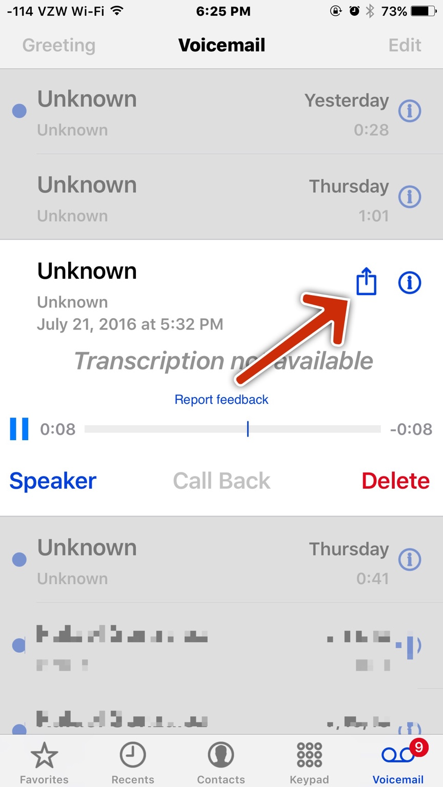 how to translate a voicemail message