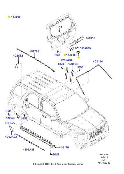 2010 Ford Escape Parts Diagram