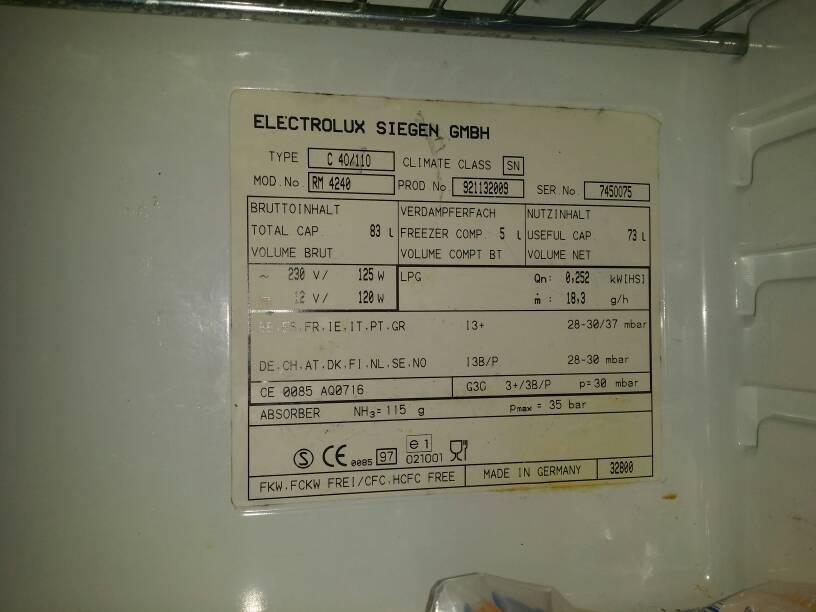 Electrolux Kühlschrank Wohnmobil : Kühlleistung kühlschrank heizung und klima wohnwagen forum