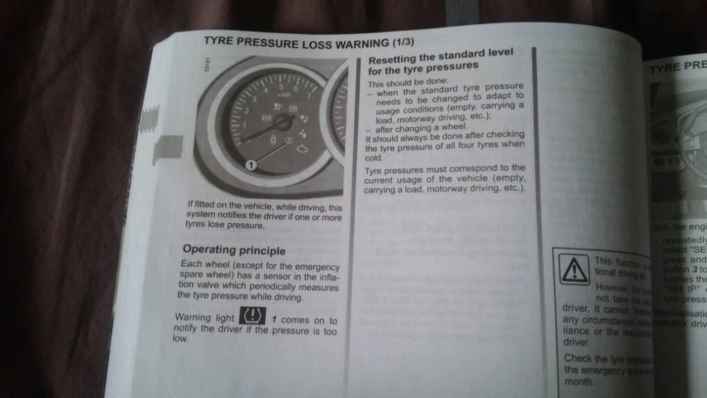 Tyre Air Pressure warning - Dacia Sandero Forum - Dacia Forum