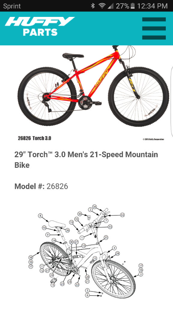 Huffy Bike Replacement Parts : Huffy torch thread mtbr