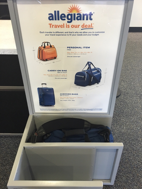 Allegiant Air Carry On Bag Size Limit