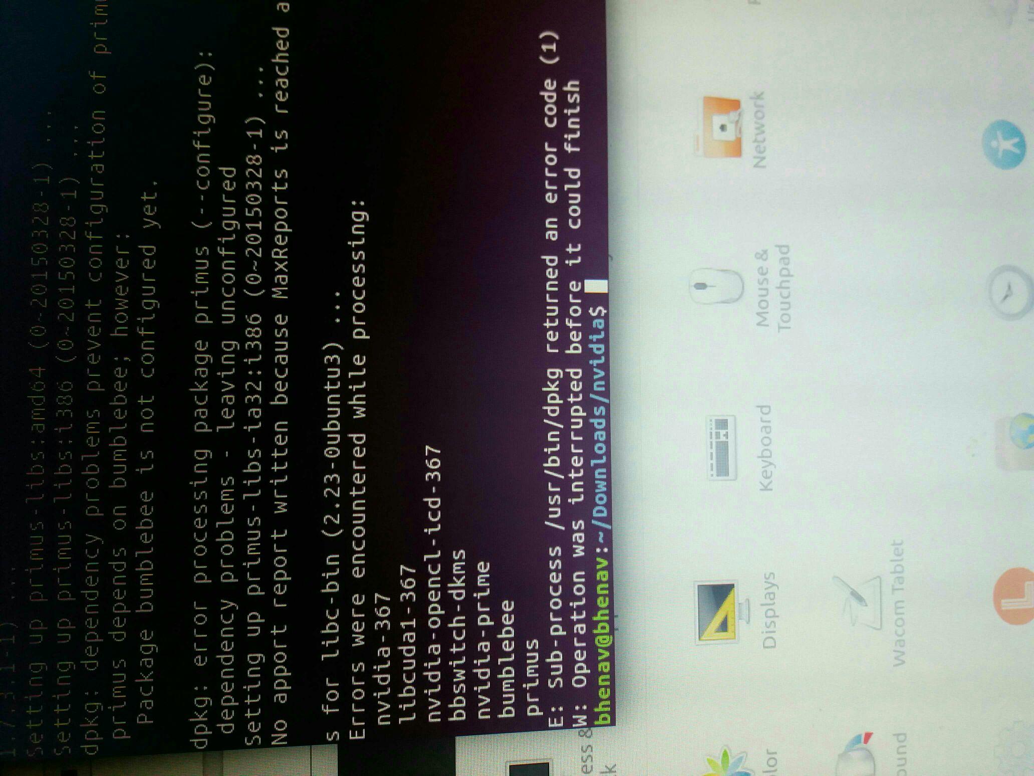 Nvidia kurulum hatası ubuntu 16 04
