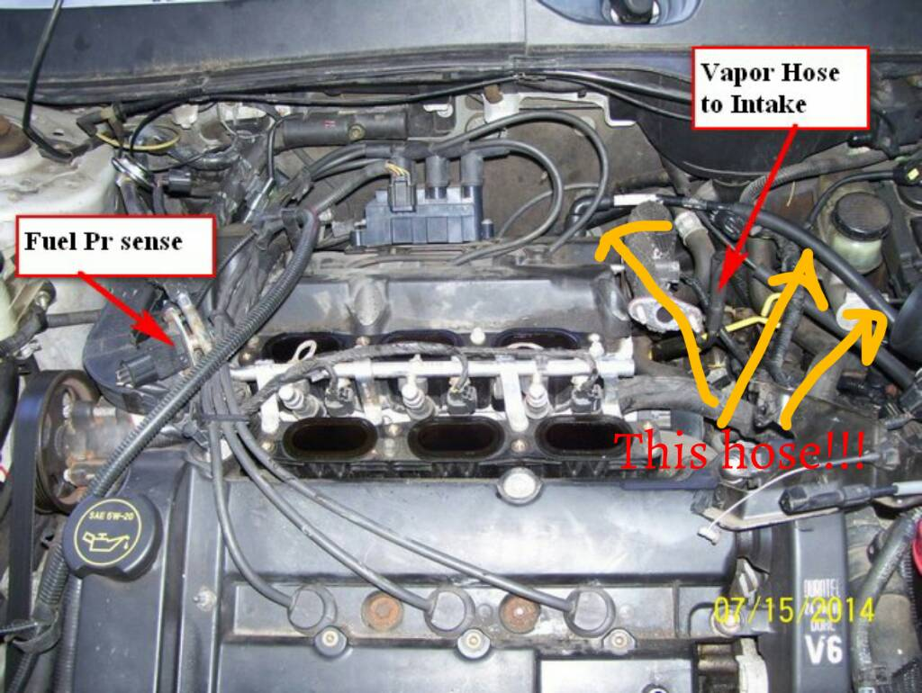 1996 Lincoln Town Car Engine Diagram Simple Guide About Wiring 1992 Ford Pace Arrow 7500 Fuse Box Intake Manifold Vacuum Lines Page 2 Taurus Club