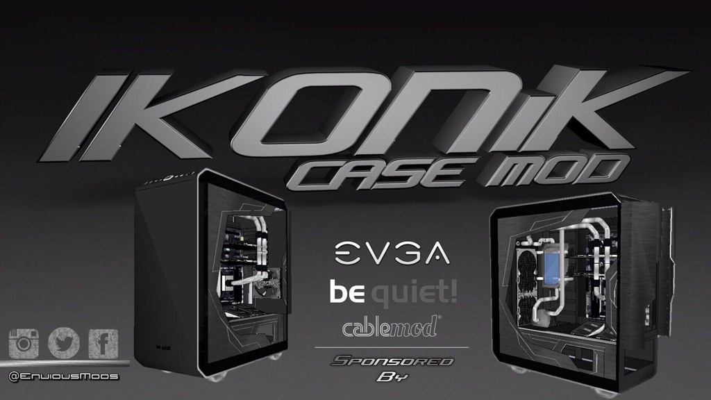 ikonik case mod 1st to mod the new be quiet dark base 900 pro