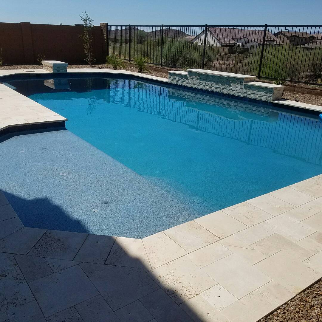 A deep pool build in peoria az finished working on for Pool fill in mesa az