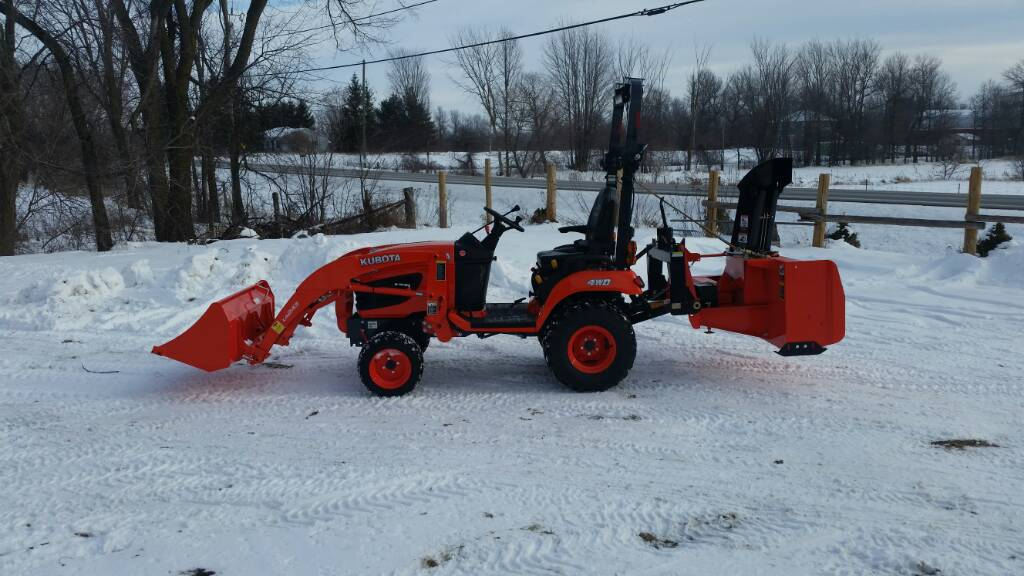 Kubota Three Point Hitch Snowblowers : Suggestions on point snow blower for b