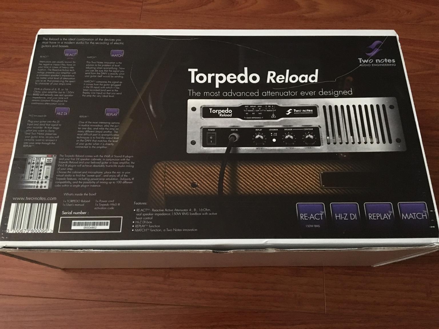 two notes torpedo reload attenuator. Black Bedroom Furniture Sets. Home Design Ideas