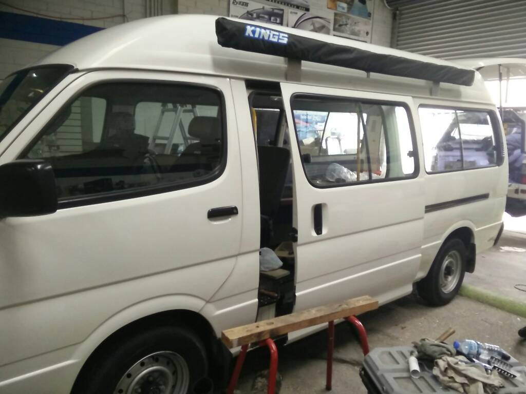 First project: 2004 Toyota hiace commuter 14 seater, high