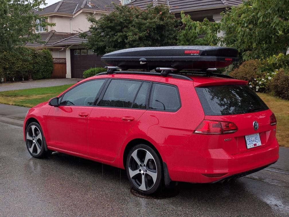vwvortexcom show   box  roof mounted sportwagen cargo box
