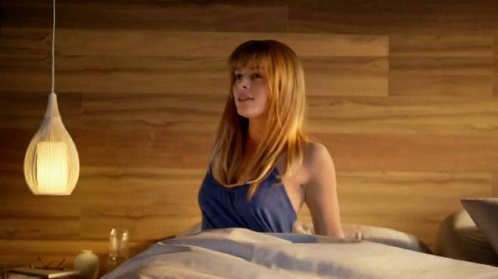 Redhead in orbitz commercial