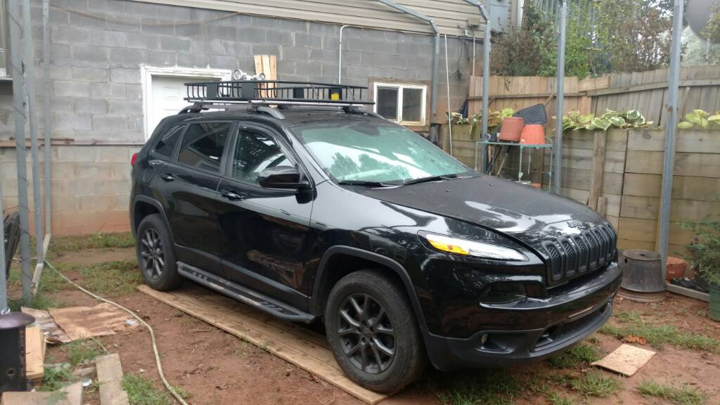 new roof rack opinions 2014 jeep cherokee forums. Black Bedroom Furniture Sets. Home Design Ideas