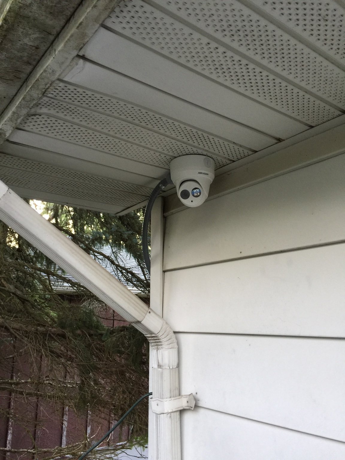 Install Advice Under Soffit For Dome Camera I Botched My