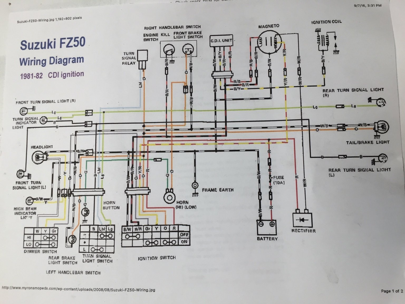 Suzuki Fz50 Wiring Diagram Electrical House Schematics 1980 Wire Center U2022 Rh Jadecloud Co Fs50