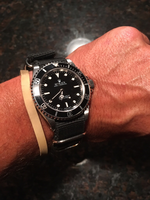 Do you wear man bracelets with your watches?