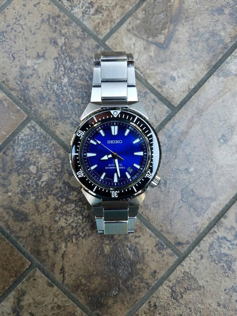 fs  seiko transocean sbdc047 blue dial diver