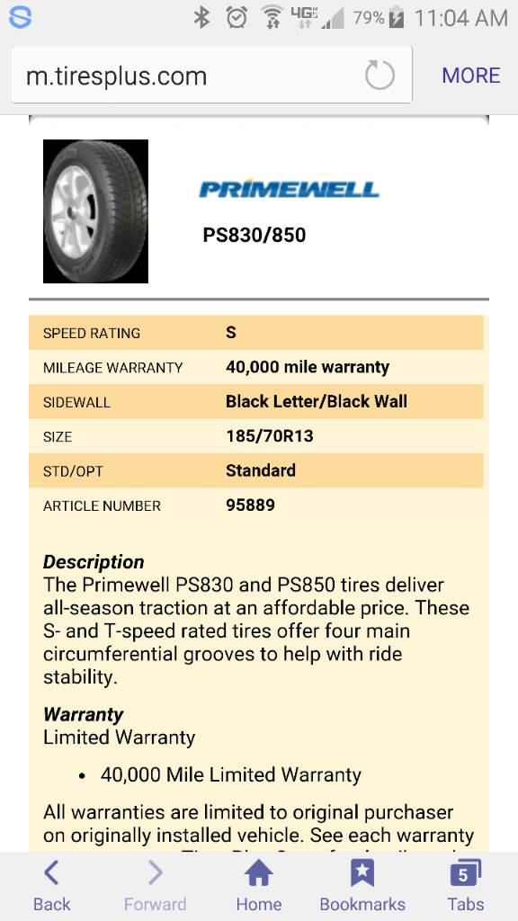 tires plus have these primewell tires for 44 image
