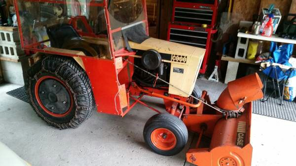 Case 444 with cab, mower, & sno-caster $1200 in Markesan, WI