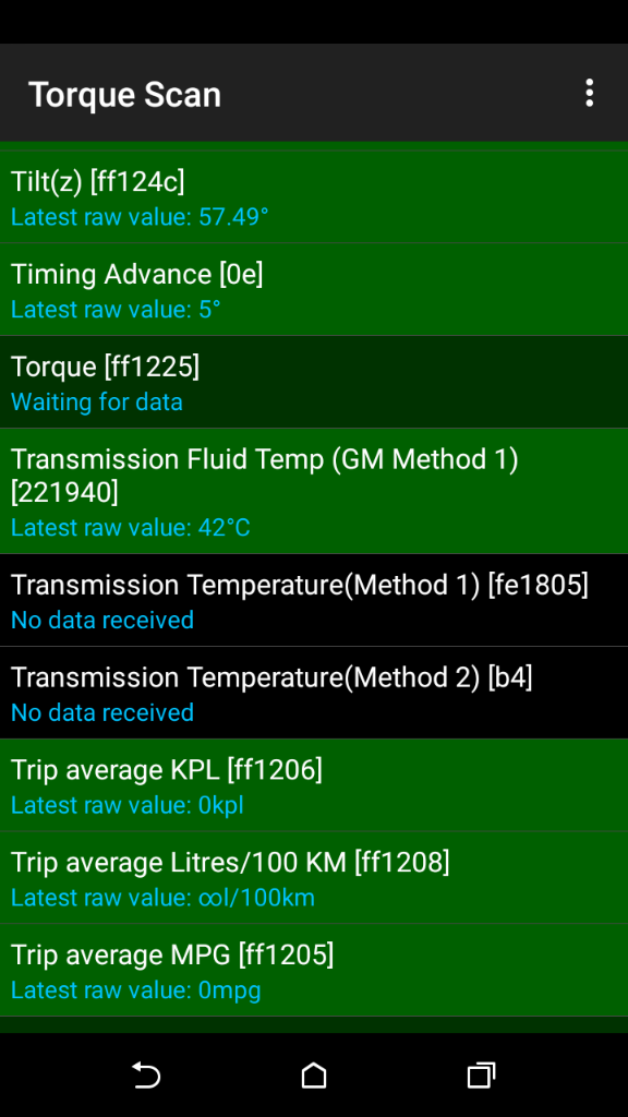Trans Fluid Temp - ODB2 Adapter - Chevy Impala Forums