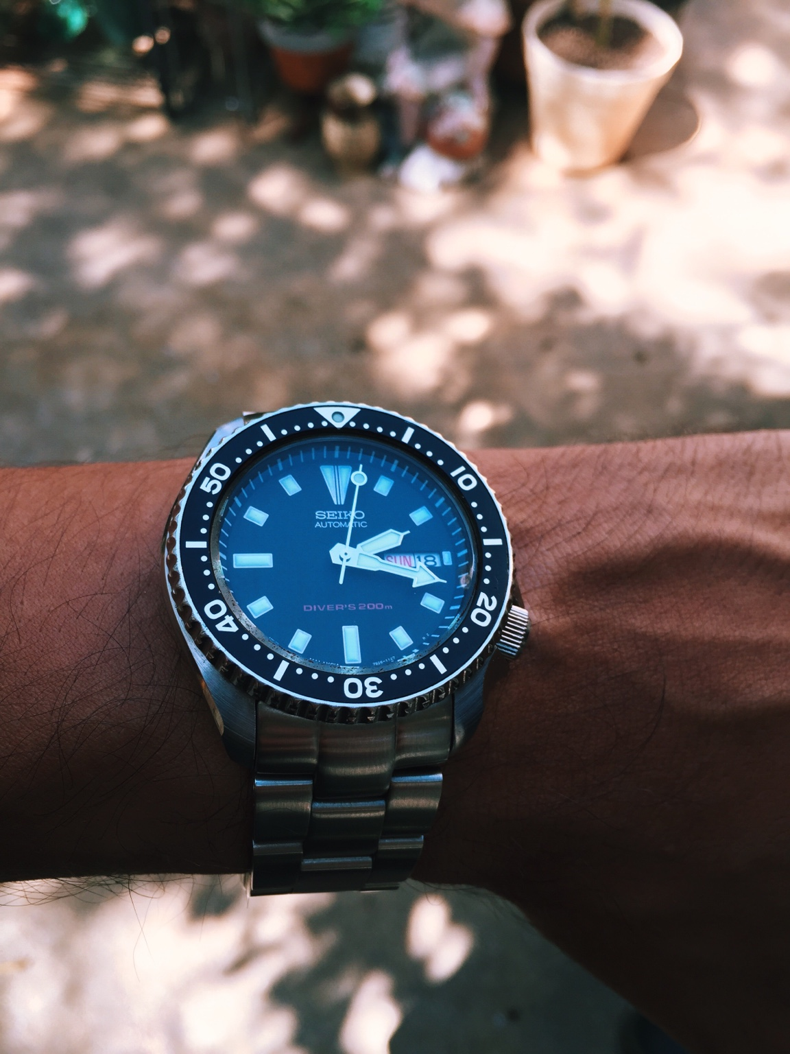 Seiko SKX/Turtle lollipop on short-end of second hand