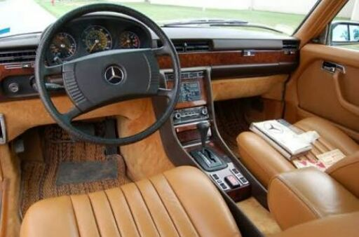 90 560sel 199 Blue Black On Palomino Leather Mercedes