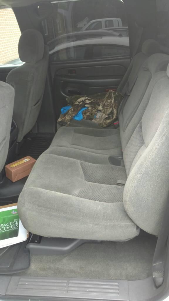 Awesome Silveradosierra Com 2004 Silverado Crew Cab Rear Seat Creativecarmelina Interior Chair Design Creativecarmelinacom