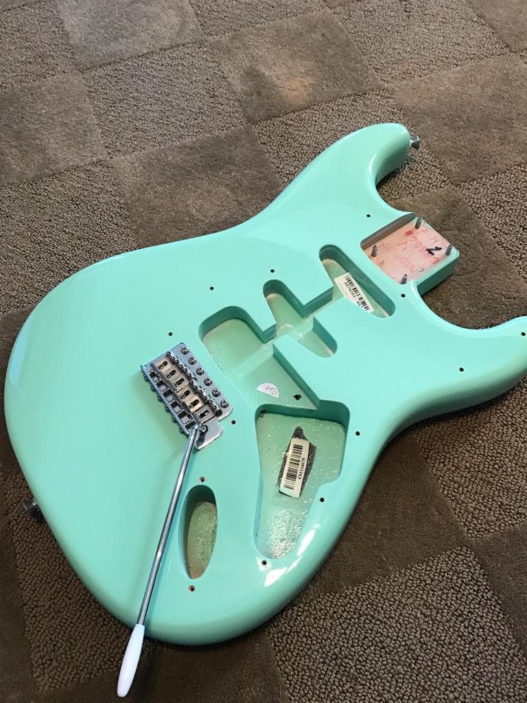 Fender strat body, strat neck, Delonge pickguard