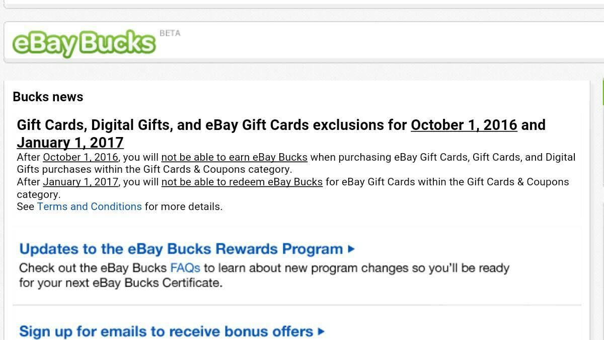 Ebay Bucks Redemption Calguns