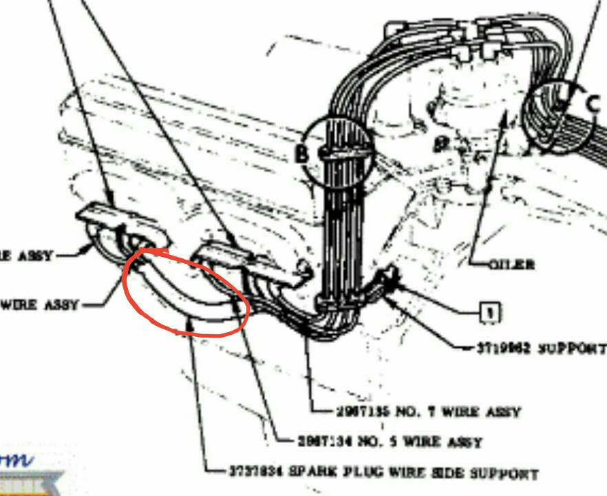 spark plug wires and steering linkage trifive com, 1955 tri five wiring diagram catalogue of