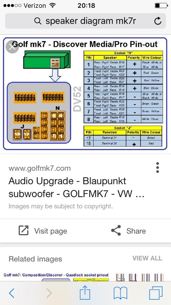 VWVortex com - Better subwoofer for the Golf VII