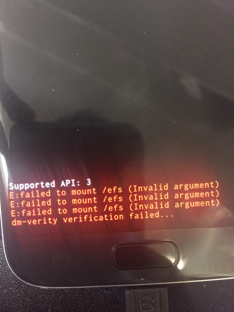 Samsung g930f E:failed to mount efs how to fix ? - GSM-Forum