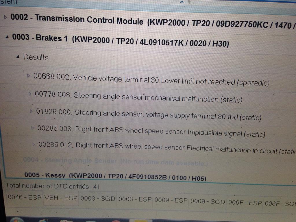 Audi Q7 starting problem