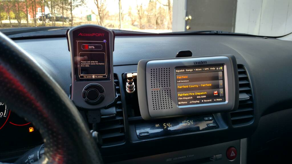 Uniden in car police scanner set up subaru legacy forums yes you lose your cubby but the scanner is perfect placement for both viewing listening and accessing the touchscreen these cars are cramped and most publicscrutiny Gallery
