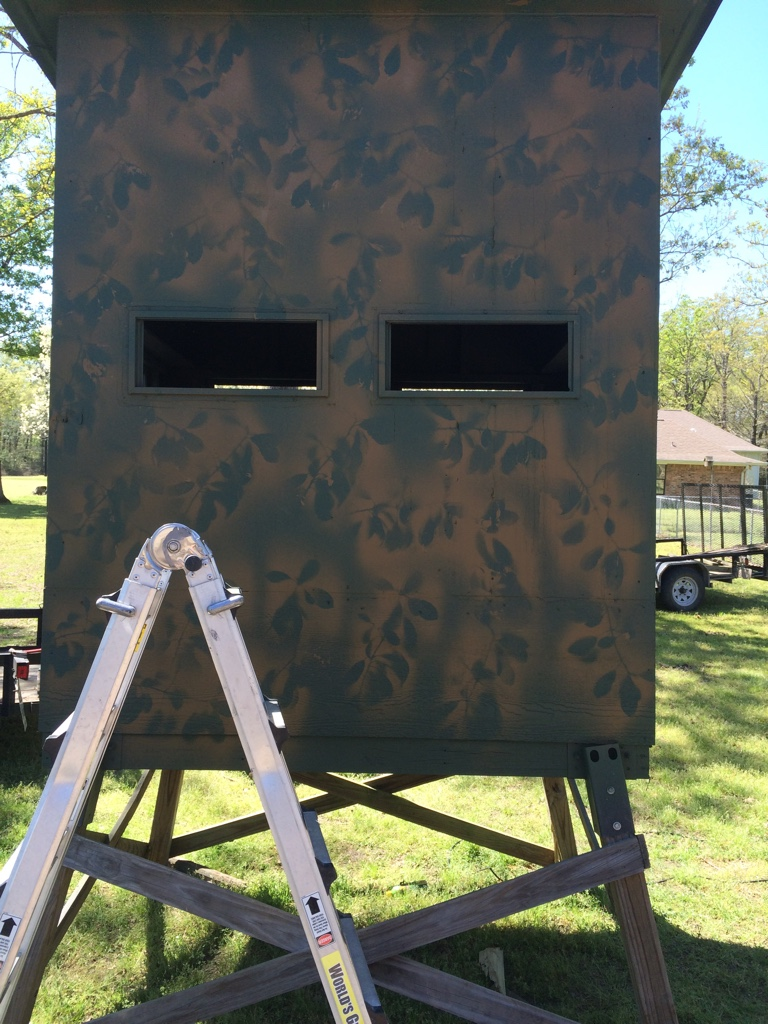 Image Of Deer Blind Windows Diy Hinged Windows For The