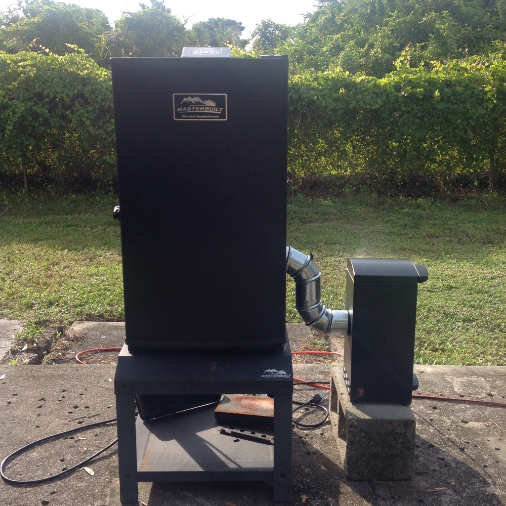 Electric smokehouse of cold smoking from the barrel