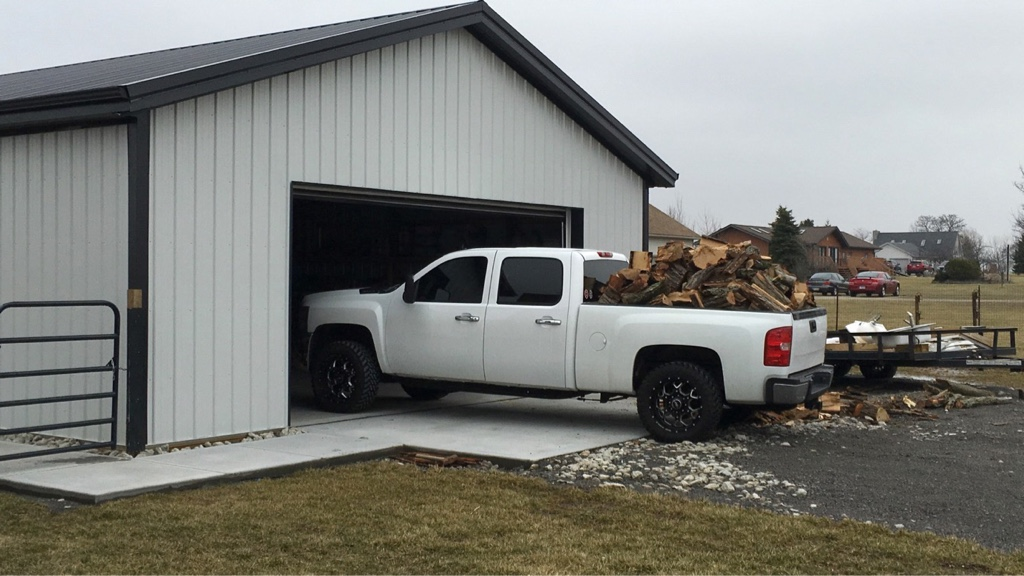 Post pics of your shop page 48 chevy and gmc duramax for 18x8 garage door