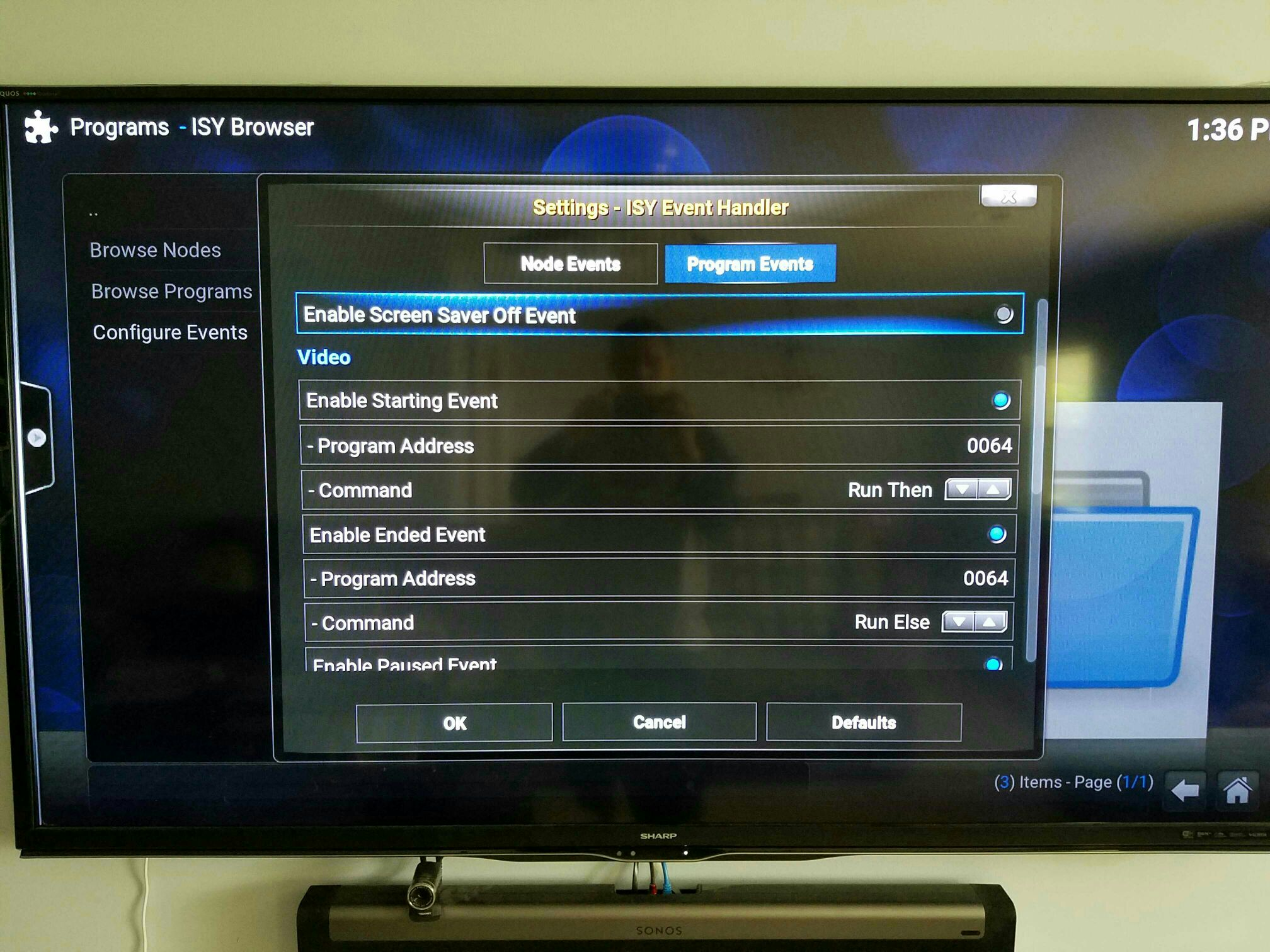 xbmc add on isy events page 3 automicus universal