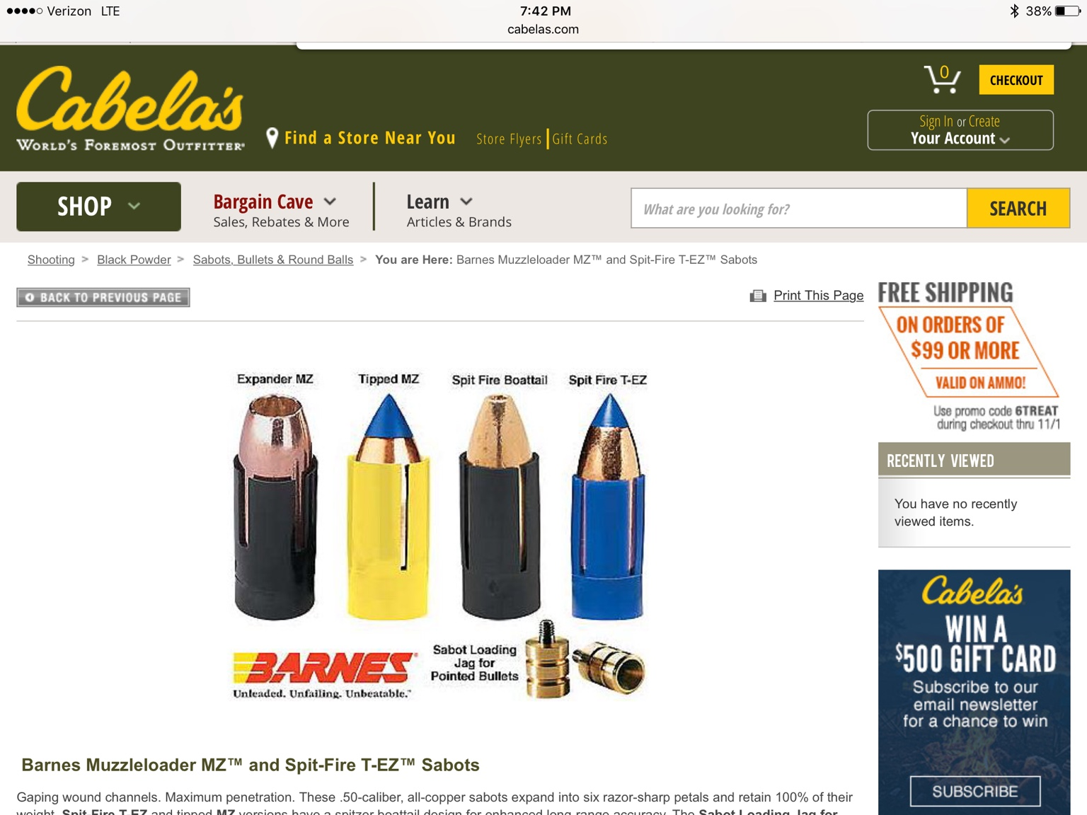 Loading sabotted muzzleloader bullets, give me your thoughts | All