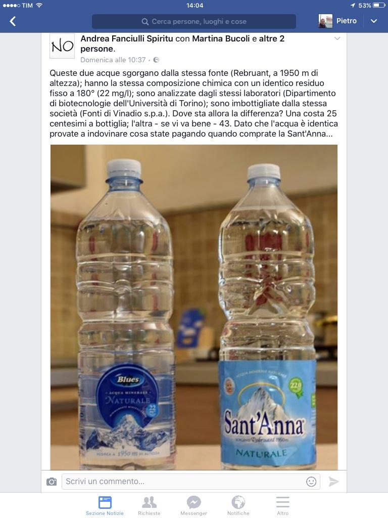 Acqua Sant Anna Blues Eurospin