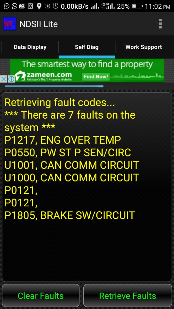U1001 Code Nissan