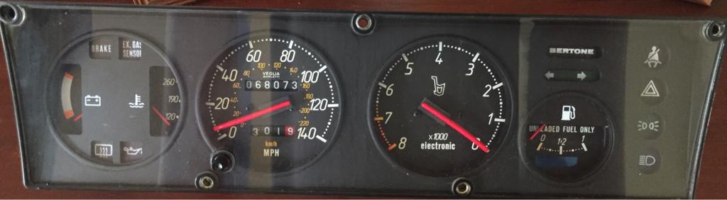 Fiat X1//9 LED Instrument bulb kit