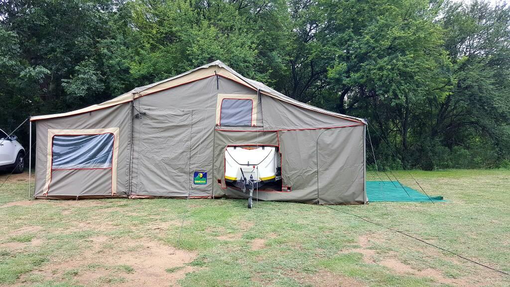 Here is some pics of my setup so far & Jurgens XT120 w/ Howling moon xt classic trailer tent