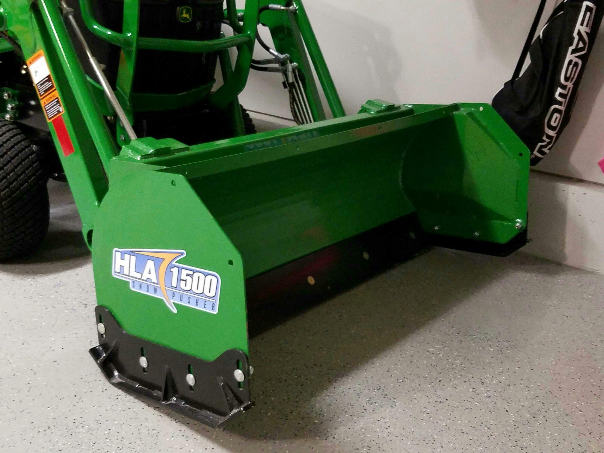 John Deere 1026r Loader Snow Plow : Hla snow pusher for my r