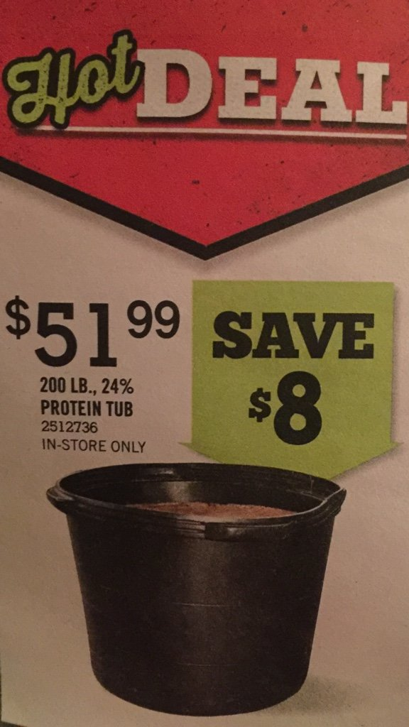 You tell protein lick tub prices interesting. Tell