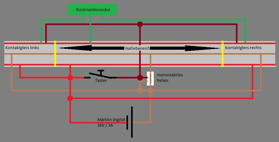 Haltebereich - monostabiles Relais gesucht - Stummis Modellbahnforum