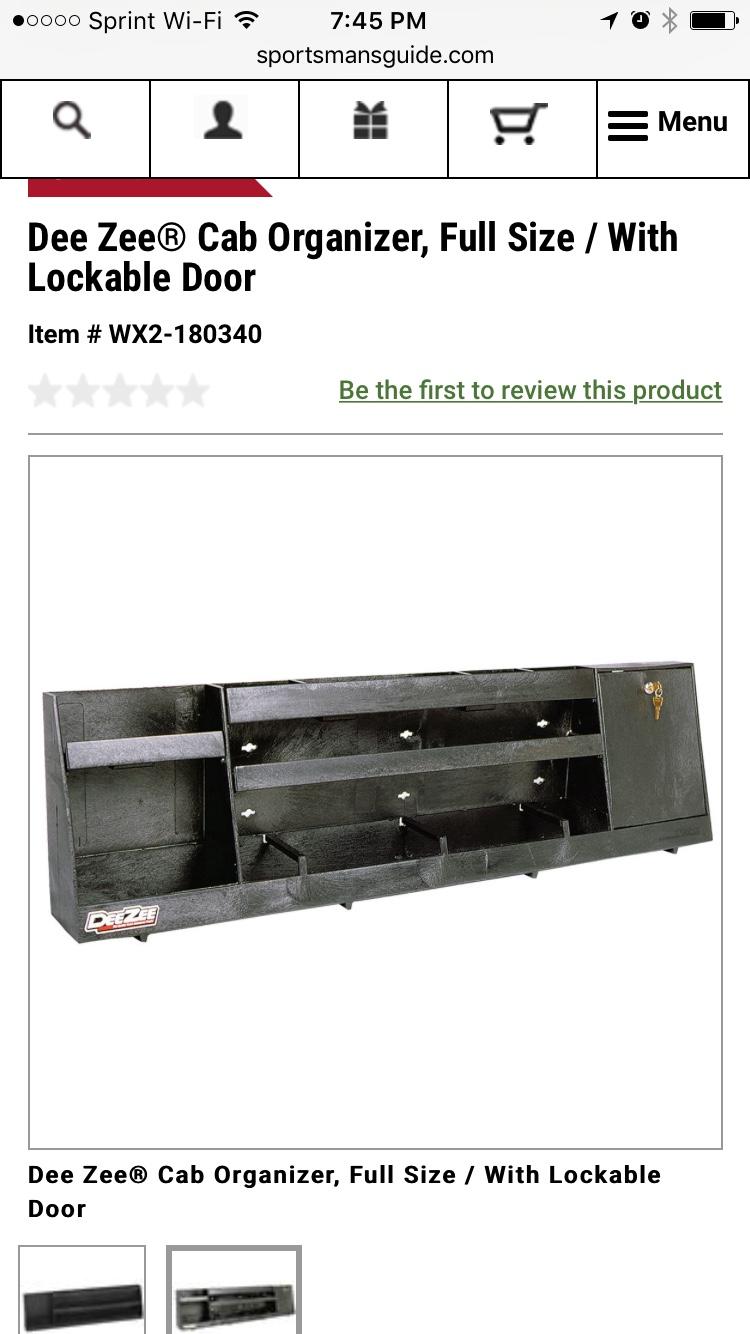 Locking Storage Behind Bench Seat